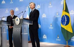 President Macri thanked Brazil's standing support for the Argentine position in the Malvinas Islands question