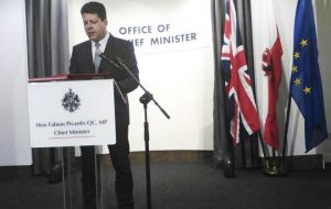"Fabian Picardo replied to Caretaker Spanish Foreign Minister Jose Manuel Garcia Margallo who on Wednesday night vowed to ""plant his flag on Gibraltar""."