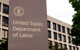 The US Department of Labor said job gains occurred in professional and business services and in health care.