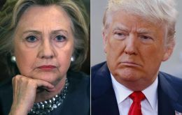 The survey found that in a two-way race between the two nominees, Clinton leads Trump 52% to 38%, up from a 7-percentage-point lead last month.