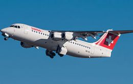 The Avro RJ100 ((picture) is scheduled to land in St Helena airport on Friday 21 October 2016.