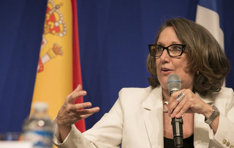 """Spain recently presented to the Ibero-American members a statement on Gibraltar"", confirmed the chair of the organization Rebeca Grynspan"