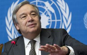 The Argentine government also wishes the best of successes to Mr. Antonio Guterres as head of UN