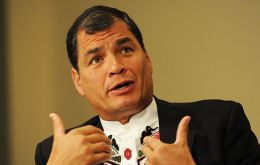 """For the good of the United States and the world ... I would like Hillary to win,"" Rafael Correa told broadcaster Russia Today last month."