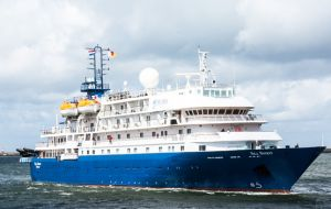 Sulivan Shipping expects the arrival of the first cruise ship passengers on next Saturday's flight, to board the M/V Sea Spirit.