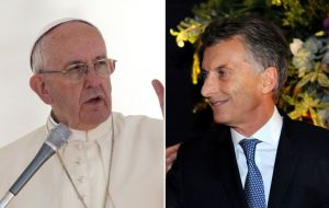 "The relation (Pope-Macri) ""stands where it should be: with autonomy, closeness and cooperation, without mixing things because"""