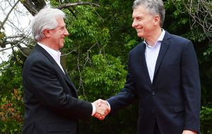Macri said that his government understands Uruguay´s need to have access to other markets and open to the world's second largest economy.