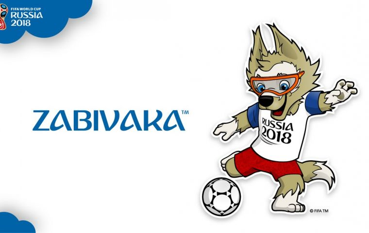 The mascot designed by student Ekaterina Bocharova was announced live on Russia's Channel 1 with guest star and Ronaldo and chairman Vitaly Mutko.
