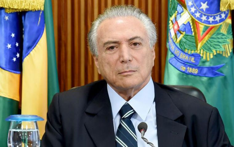 "The proposed regulatory framework would ""create new jobs"" and ""provide a new boost to investment in the sector,"" Temer said at the Rio Oil and Gas conference."