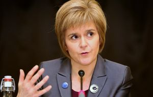 """We had a very frank exchange of views. I don't mind admitting large parts of the meeting were deeply frustrating,"" Ms Sturgeon said"