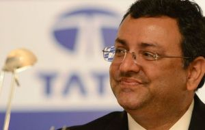 Mistry has led the company, which owns Tata Steel, since late December 2012. He was the first chairman to be appointed from outside the family for 70 years.