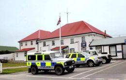 The headquarters of the Royal Falkland Islands Police (RFIP) in Stanley.