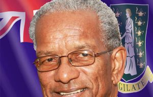 Dr D. Orlando Smith, the premier of the British Virgin Islands, is the president of the UK Overseas Territories Association Political Council.