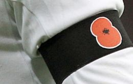 """The FA intend to pay appropriate tribute to those who have made the ultimate sacrifice by having the England team wear black armbands bearing poppies in our fixture on Armistice Day."""