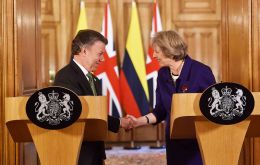 Prime Minister Theresa May announced the increased funding following her meeting with Colombian President Juan Manuel Santos at 10 Downing Street.