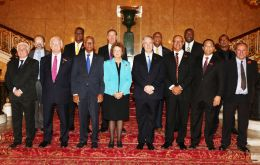 Overseas Territories minister Baroness Anelay, and other cabinet ministers met at the JMC at Lancaster House with OT elected leaders and representatives