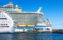 Harmony is built on the same platform as Royal Caribbean's giant Oasis of the Seas and Allure of the Seas, the previous size leaders in the cruise world