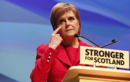 """Let me be clear -- I recognize and respect the right of England and Wales to leave the EU. This is not an attempt to veto that process,"" Sturgeon told reporters."