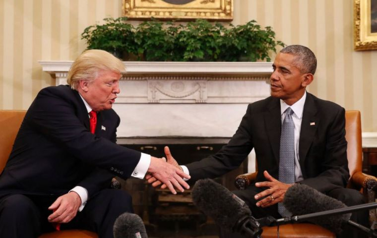 "Obama and Trump spent roughly an hour and a half in the Oval Office. The purpose was to facilitate a ""successful transition between our presidencies."""