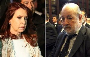 Ex president Cristina Fernandez and Federal Judge Claudio Bonadio