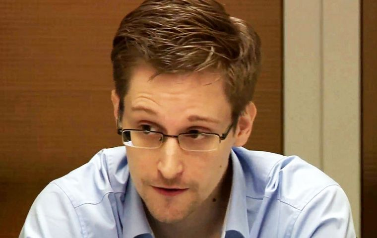 Former US spy Edward Snowden voiced his fears at the University of Buenos Aires