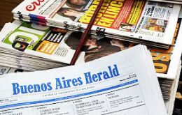 Judge imposes embargo on Buenos Aires Herald publishers. The English-language newspaper saw its last print edition out in October.