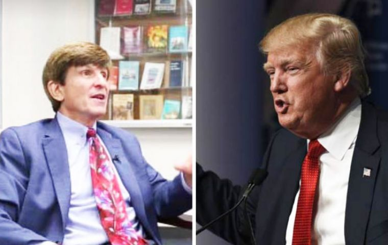 "Allan Lichtman said Trump's history of playing ""fast and loose with the law,"" his unpredictability and lack of public service experience could end in impeachment."
