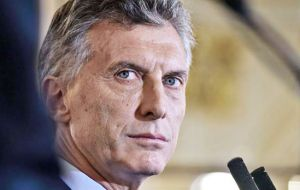 President Macri's stigma is that he's the fifth non Peronist president in seventy years and the previous four did not end their mandate