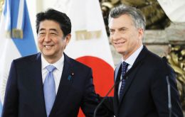 """PM Abe highly commended President Macri for taking active steps for driving the country toward economic and political transformation,"" the statement said."