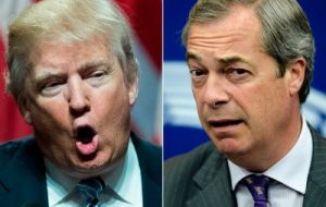 """Many people would like to see @Nigel_Farage represent Great Britain as their Ambassador to the United States. He would do a great job!"" Trump said."