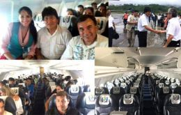 President Evo Morales flew aboard the LAMIA airplane a fortnight before the crash but says he did not know the airline was Bolivian.