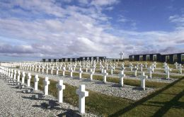 "Of the 237 graves at the Argentine Memorial, 123 remain as ""Argentine soldier only known unto God""."