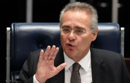 Senate Speaker Renan Calheiros suspended by Supreme Court judge to stand trial for corruption.