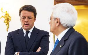 "In a decision widely expected, president Sergio Mattarella told Renzi ""to delay his resignation until that task (of the budget law) is completed."""