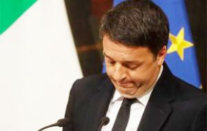Barely an hour after the referendum was resoundingly rejected Sunday by voters, Renzi announced he would keep his promise to quit
