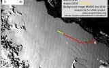New images taken on November 10 reveal a crack in the Antarctica ice shelf that is growing in size and depth. Scientists state it will eventually break off.