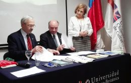 MLA Elsby representing the Falklands Education Department recently signed an MOU with the Chilean British University in Santiago, Chile.