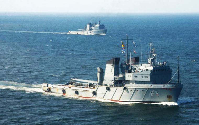 ARA Islas Malvinas is one of four Russian built polar multipurpose class tug, purchased at the end of ex president Cristina Fernandez mandate