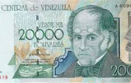 At the official rate of 10 Bs per dollar, the 20,000 Bolivar note featuring liberation hero Simon Bolivar would be worth US$2000. In the street, it is worth just US$4.69.