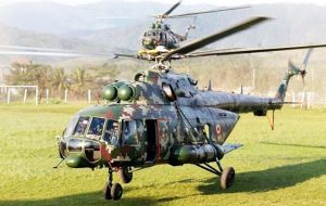 Peru's military helicopters will get their spare parts straight from their Russian manufacturer