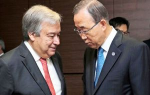 U.N. member states also held a tribute to Ban Ki-moon, who has led the organization for the past decade.