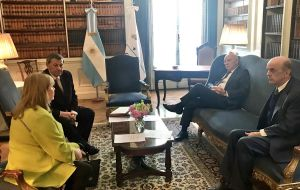 A picture twitted by Serra, during Wednesday morning Mercosur meeting next to Paraguay's Loizaga, Uruguay's Nin Novoa and host Malcorra