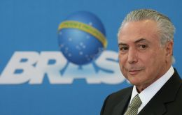 """We are taking measures to pull the economy out of the recession,"" Temer said in a briefing flanked by the head of the Senate and the Lower House."