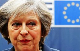 Mrs. May attended a European Council summit meeting in Brussels on Thursday, but then left without answering any questions on the UK's break with the EU.