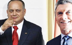 President Mauricio Macri hits back at Venezuelan lawmaker Diosdado Cabello. Who's the most coward of them all?