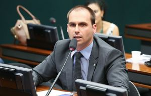 "Congressman Eduardo Bolsonaro filed the request for the injunction. Justice Fux ""disallowed amendments that would distort the law's original purpose and spirit."