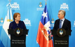 """We are very interested in seeing Mercosur and Argentina become part of the Pacific Alliance,"" Bachelet said at a news conference in Buenos Aires"
