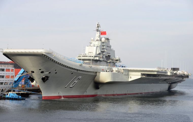 The Soviet-built Liaoning is China's only aircraft carrier, but the Asian giant is said to be building a second one.