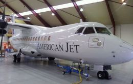 American Jet has recently started commercial flights four times a week from Neuquén to Temuco and Chile with a twenty seat aircraft
