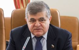 "Russian lawmaker Vladimir Dzhabarov warned there will be ""reciprocal steps."""